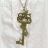 สร้อยคอโกธิคโลลิต้า จี้กุญแจดาว สีทองโบราณ Star Key Gothic Lolita Necklace