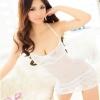 sx181 ชุดนอน ชุดเซ็กซี่ ชุดซีทรูสีขาว อกผ้าลูกไม้มีดันทรงในตัวคะ พร้อมจีสตริง ชุดสวยคะ