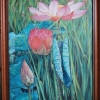 ภาพดอกบัว สีน้ำมัน Lotus oil color
