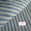 ผ้าคอตตอนไทย 100% 1/4 ม.(50x55ซม.) ลายทางสีฟ้าขาว