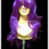 วิกผมคอสเพลย์ สีม่วงสวอน มีหน้าม้า Purple Curl Cosplay Wig