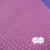 ผ้าคอตตอนไทย 100% 1/4 ม.(50x55ซม.)พื้นสีชมพู ลายจุดสีขาวเล็ก