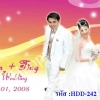 การ์ดแต่งงานรูปภาพ HDD-242