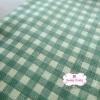 ผ้าคอตตอนลินิน 1/4ม.(50x55ซม.) ลายตารางสีเขียว