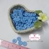 กระดุมพลาสติกสีฟ้าเข้ม ขนาด 1.2 ซ.ม. จำนวน 12 เม็ด(1โหล)