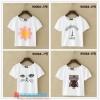 collection เสื้อยืดพื้นขาว สกรีนลายนิดๆ ดูสบายตา set 2