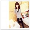 เสื้อยืดแฟชั่นเกาหลีแขนยาวจาก Temperament คอวี สวยเรียบเฉียบทุกงาน
