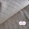 ผ้าทอญี่ปุ่น 1/4ม.(50x55ซม.) สีครีม เล่นลายเส้นด้าย