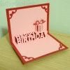 A35 การ์ดป๊อปอัพ Happy BirthDay สีชมพู