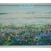 ภาพวิวบัว สีอะคริลิค Lotus scenery Acrylic color