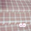 ผ้าทอญี่ปุ่น 1/4ม.(50x55ซม.) สีชมพู ทอลายตารางตัดสีขาว