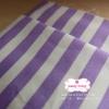 ผ้าคอตตอนไทย 100% 1/4 ม.(50x55ซม.) ลายทางโทนสีขาวม่วง กว้าง1ซม.