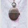 สร้อยคอโกธิคโลลิต้า จี้ล็อกเก็ตนาฬิกาขนาดกลางรูปวงรี เปิดฝาได้