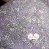ผ้าคอตตอนไทย 100% 1/4 ม.(50x55ซม.) พื้นสีม่วง ลายหอไอเฟล