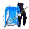 ชุดปั่นจักรยานหญิง เสื้อปั่นจักรยานแขนยาว + กางเกงปั่นจักรยานขายาว **พร้อมส่ง