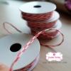 เชือกสีชมพูเข้มสลับสีขาว 1ม้วน (ยาว 2 หลา)