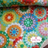 ผ้าคอตตอนไทย 100% 1/4 ม.(50x55ซม.)โทนสีเขียว แฟนตาซี