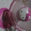 พัดลม ตกแต่ง คิตตี้ kitty เสียบไฟบ้าน สีชมพู