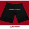 กางเกงซับใน ผ้าสแปนเด็กซ์ สีดำ ขาขอบลูกไม้