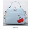 กระเป๋าแฟชั่น ห่วงโซ่ลายเชอร์รี่ สีฟ้าน่ารักๆ