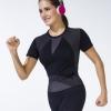 """ชุดออกกำลังกาย ช่วยลดกระชับสัดส่วน """"แบบเสื้อยืดคอกลม"""" ลดไขมัน เซลล์ลูไลท์ เส้นเลือดขอด รอยแตกลาย นาโน อินฟราเรด"""