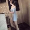 ชุดเซทเอี๊ยมทรงน่ารักๆ เข้ากับเสื้อลายขวาง ใครใส่ก็น่ารัก 2สี หลายขนาด เหมาะกับสาวๆ ทุกไซด์จ้า