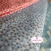 ผ้าคอตตอนไทย 100% 1/4 ม.(50x55ซม.) พื้นสีฟ้า ลายดอกบ๊วย
