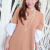 เดรสั้นเกาหลีโดดเด่นด้วยแขนเสื้อเย็บชิ้นขนาดใหญ่ เก๋ไก๋แบบสไตล์สาวญี่ปุ่น
