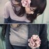 กิ๊บดอกไม้ผ้าคละสี
