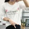 เสื้อยืดคอกลมแฟชั่น สกรีนลายน่ารักๆ ดูสวย สมวัยใส่ได้ทุกวัน
