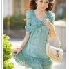เดรสสั้นจาก Tokyo fashion ผูกโบว์แบบผีเสื้อที่หน้าอก - เขียว