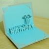 A56 การ์ดป๊อปอัพ Happy BirthDay ปกสีเงิน