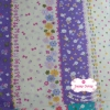 ผ้าคอตตอนไทย 100% 1/4 ม.(50x55ซม.) ผ้าสลับลายโทนสีม่วงขาว