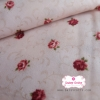 ผ้าคอตตอนญี่ปุ่น 100% 1/4ม.(50x55ซม.) พื้นสีครีม ลายดอกกุหลาบ