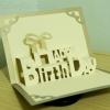 A55 การ์ดป๊อปอัพไดคัท Happy Birthday 2 สีครีม