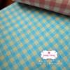 ผ้าคอตตอนลินิน 1/4ม.(50x55ซม.) ลายตารางสีฟ้า
