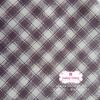 ผ้าคอตตอนไทย 100% 1/4 ม.(50x55ซม.) ผ้าลายตารางโทนสีน้ำตาล