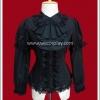 เสื้อ Blouse สีดำ Melane Front Frill Gothic Lolita Blouse