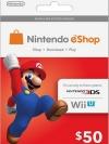 Nintendo eShop Card 50 US