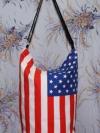 กระเป๋าผ้าcanvas สกรีนลาย ธงอเมริกา
