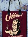 กระเป๋าผ้าcanvas สกรีนลาย coffee