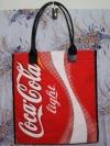 กระเป๋าผ้าcanvas สกรีนลาย coca cola แดง