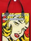 กระเป๋าผ้าcanvas สกรีนลาย popart1