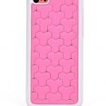 เคสไอโฟน 5C (Hard Case ขอบยาง) ประดับเพชร สีชมพู