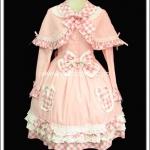 เดรสโกธิคโลลิต้าออเฟรย์ พร้อมผ้าคลุมไหล่ Orfeu Gothic Lolita Dress with Cape