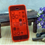 เคสไอโฟน 5C (TPU CASE) คลุมรอบเครื่องแบบมันใส สีแดง ปิดปกหน้า Touch ได้