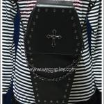 กระเป๋าโกธิคพังค์ ทรงโลงศพ ติดไม้กางเขน Coffin Gothic Punk Bag