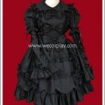เดรสโกธิคโลลิต้า แบล๊กแซฟไฟร์ สีดำ Black Sapphire Gothic Lolita Dress