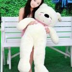 ตุ๊กตาหมี หลับตา ขนาด 1.0 เมตร