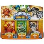 Skylanders Giants Triple Toy Packs -Eruptor - Stealth Elf - Terrafin